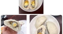 Hình ảnh món Bánh bao nhân thịt, trứng cút và trứng muối