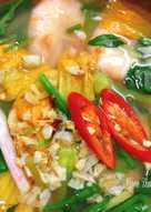 Canh Chua Tôm Bông Bí