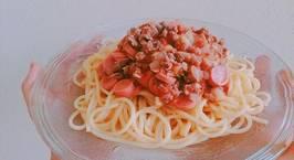 Hình ảnh món Mỳ ý sốt cà chua thịt bằm xúc xích