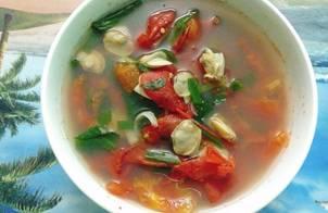Canh ngao nấu cà chua