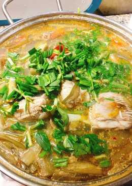 Canh cá đuối nấu mùng chua