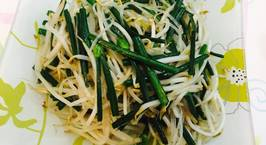 Hình ảnh món Giá, hẹ xào cùng miến đậu xanh chay