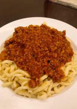 Mì trứng homemade sốt spaghetti