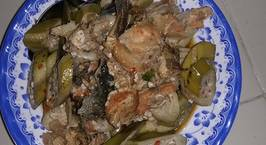 Hình ảnh món Đầu cá hồi om chuối