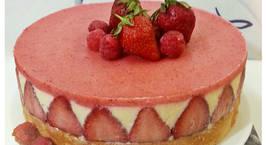 Hình ảnh món Strawberry cheese cake - Bánh kem dâu tây phô mai