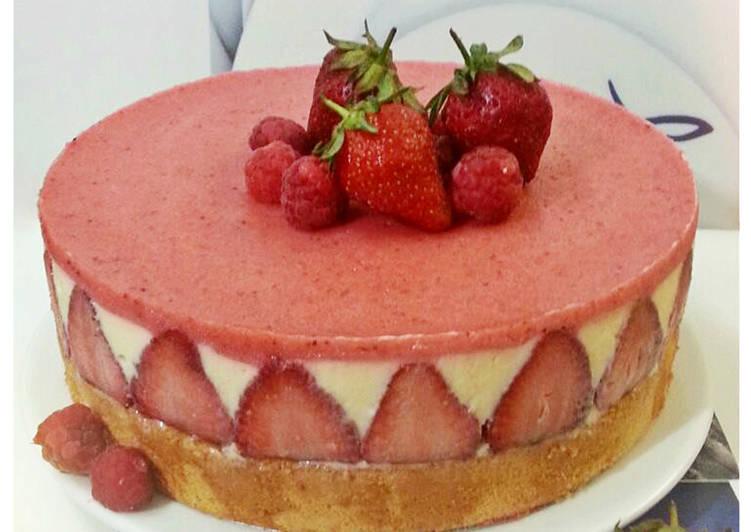 Strawberry cheese cake - Bánh kem dâu tây phô mai