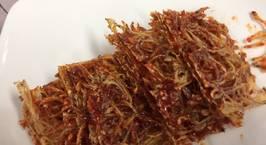 Hình ảnh món Khô cá trắng nhỏ nướng với tương ớt(뱅어포 고추장구이)