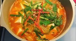 Hình ảnh món Canh Kim chi Hàn Quốc nấu đậu hũ non