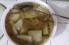 Canh bí nấu nước luộc gà