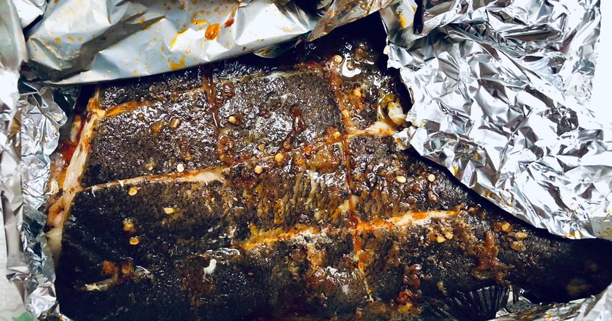 Cá bơn nướng sa tế