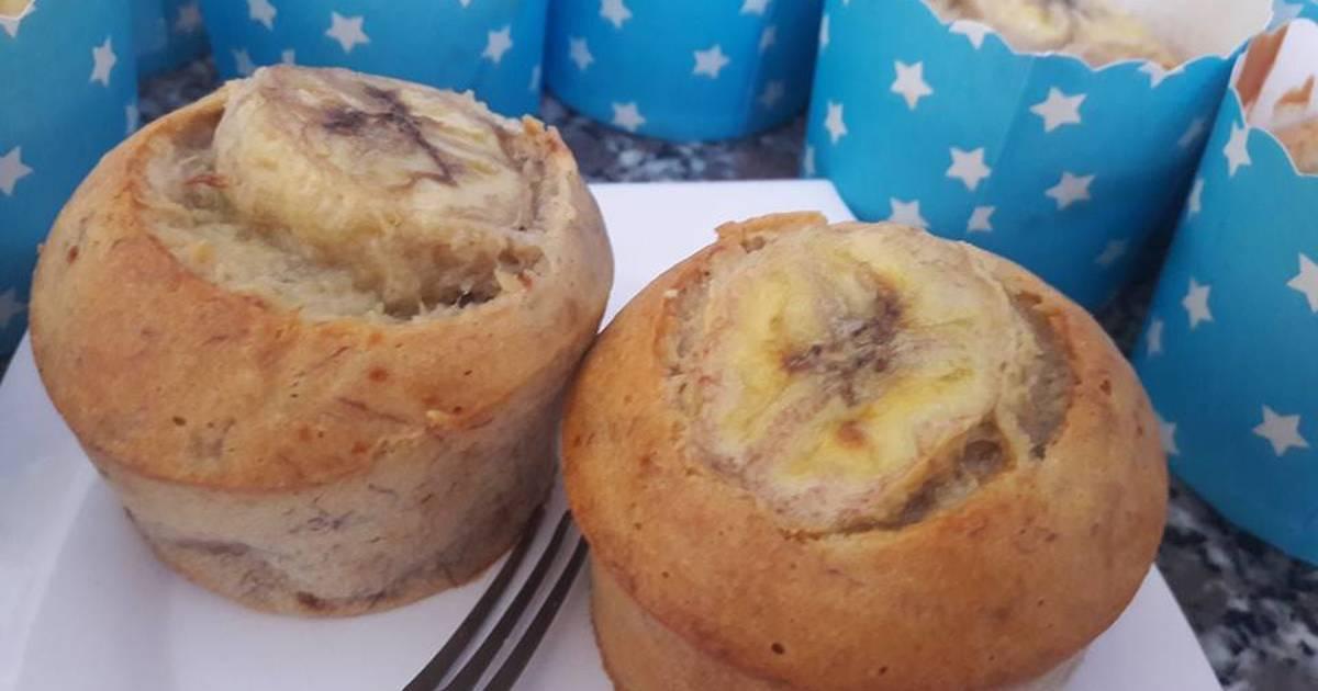 Bánh Muffin chuối... thơm ngon bổ dưỡng cho bé lười ăn chuối