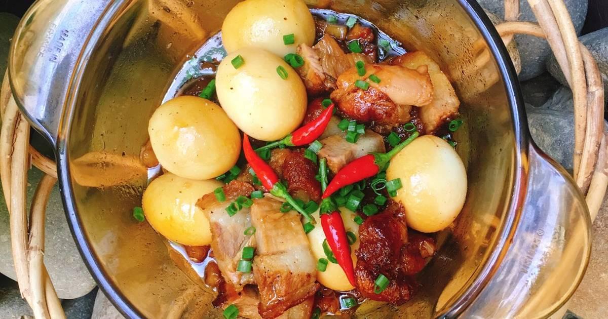 Thịt Heo Quay Kho Trứng