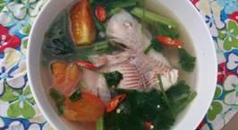 Hình ảnh món Canh cá điêu hồng nấu ngót cà chua