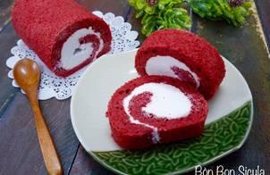 Bánh Bông Lan Cuộn Red Velvet