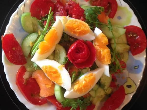 Salad dưa chuột, cà chua