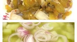 Hình ảnh món Thịt luộc trộn mắm dưa gang và canh su su