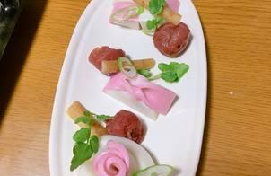 Trang trí Kamaboko - món ăn dịp Tết ở Nhật