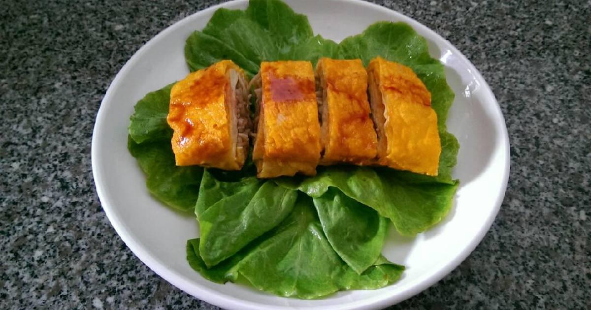 Tàu Hủ Ky Cuộn Nấm (Món Chay)