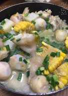 Móng giò hầm rau củ