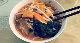 Hình ảnh món Mì udon kim chi thịt bò