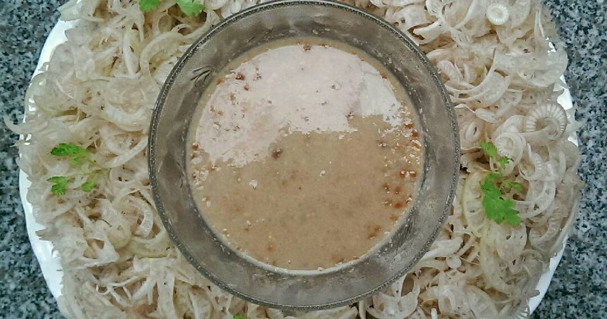 Chuối Cây Chấm Mắm Đậu Phộng (Món Chay)