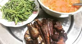 Hình ảnh món Cá Hồng, cá Trai trứng kho thịt