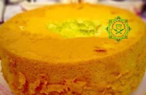 Pandan Chiffon Cake (Bánh chiffon lá dứa)
