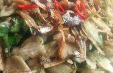 Cà dĩa khô cá cơm