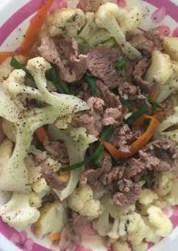 Bông cải trắng xào thịt bò