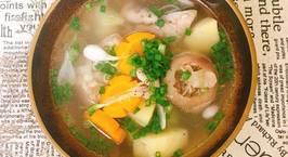 Hình ảnh món Canh Giò Heo Nấu Carot Khoai Tây