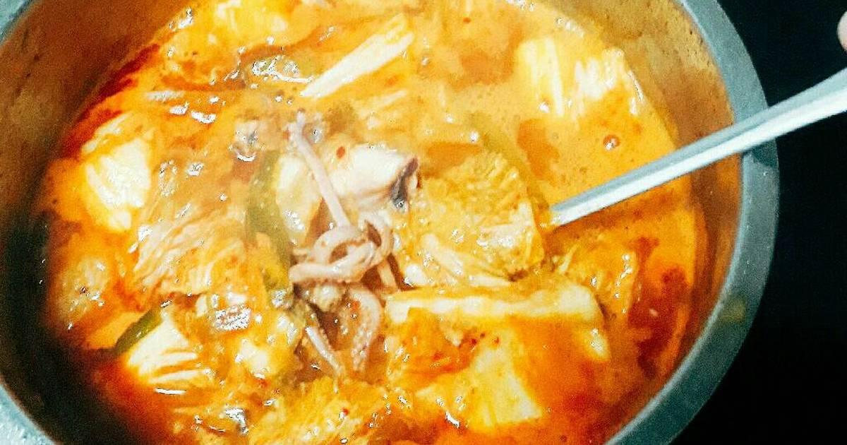 Canh kim chi hải sản