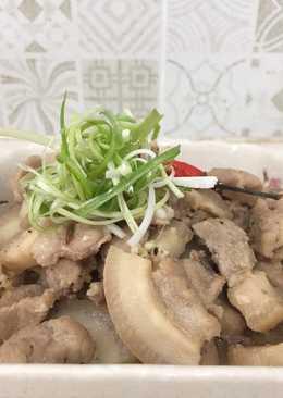 Thịt ba rọi kho tiêu