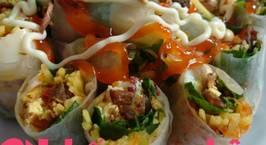 Hình ảnh món Bánh tráng cuốn - đặc sản tây ninh