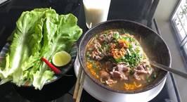 Hình ảnh món Mỳ gói bò tái cho bửa sáng lười ;)