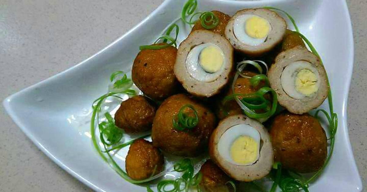 Thịt Bọc Trứng Cút Kho Dừa Tươi