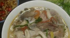 Hình ảnh món Bún hầm xương nấm bào ngư (bún miền Trung)