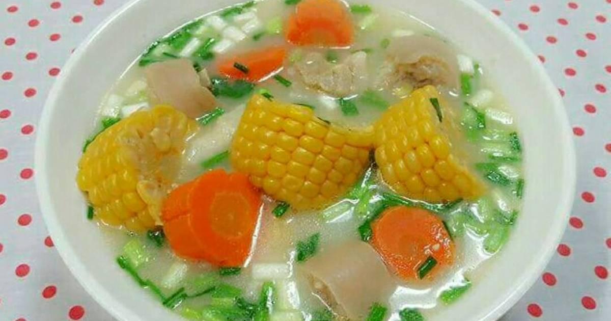 Canh Ngô Hầm Đuôi Lợn 옥수수 스프 스튜 돼지 꼬리