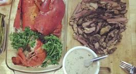Hình ảnh món Tôm nướng bơ tỏi và bò nướng sốt
