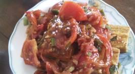 Hình ảnh món Đậu phụ sốt cà chua - chay mặn đều được