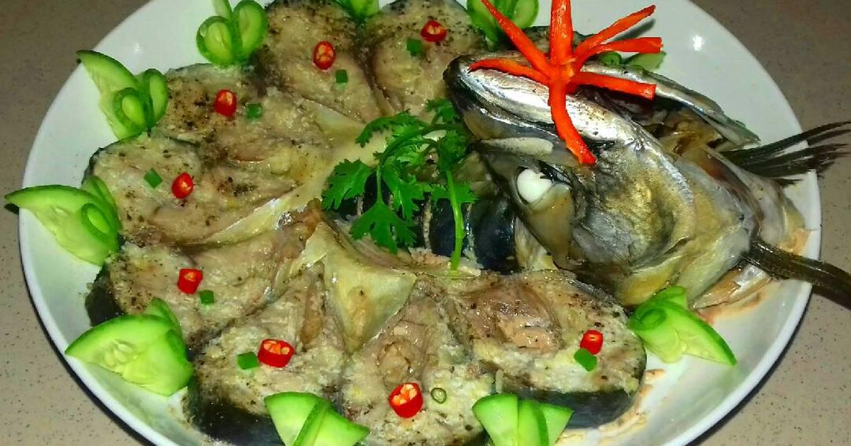 Cá Hấp Cuốn Bánh Tráng