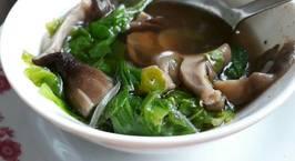 Hình ảnh món Canh cải nấm rơm chay