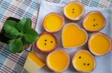 Mousse chanh dây (Passion fruit mousse)