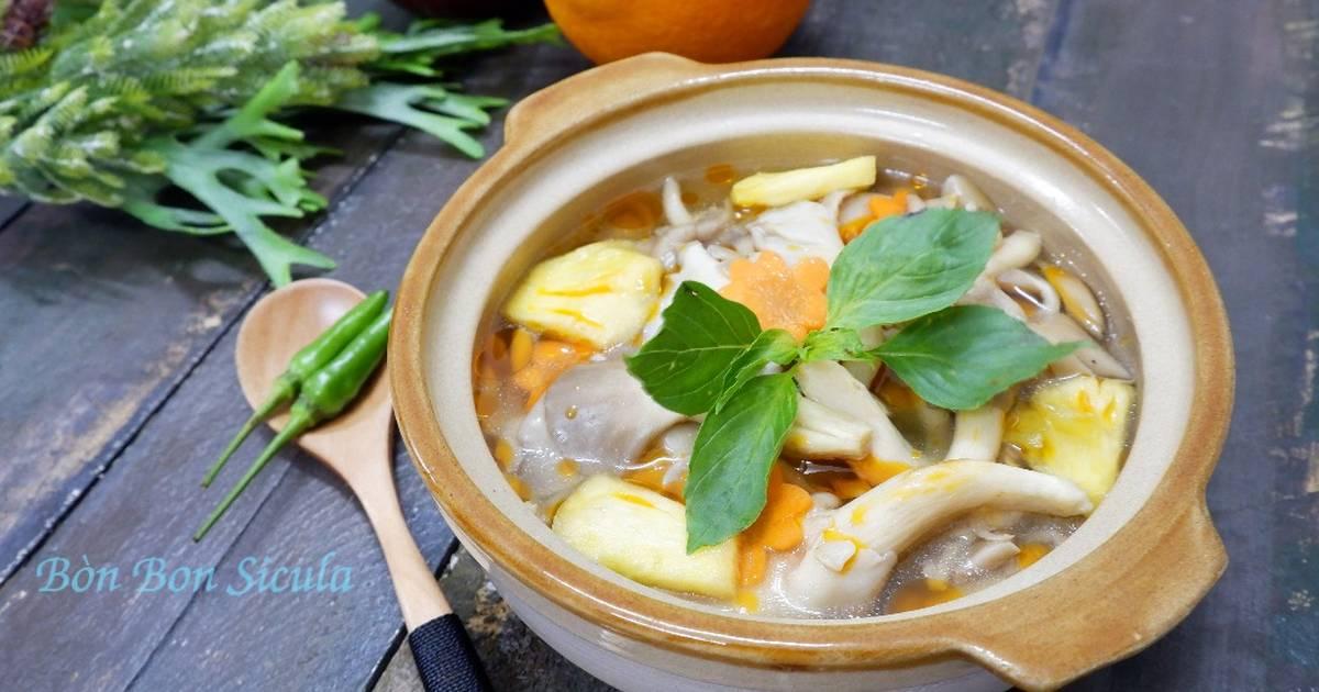 Nấm Bào Ngư Hấp Thái (Món Chay)
