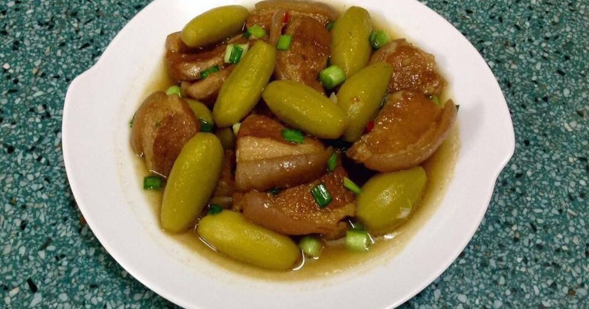 Thịt kho dưa hường (kho lạt)