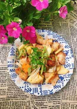 Thịt Heo Quay Xào Kim Chi Su Hào