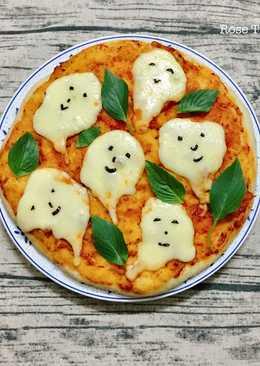 Margherita Pizza- Happy Halloween😍🤣