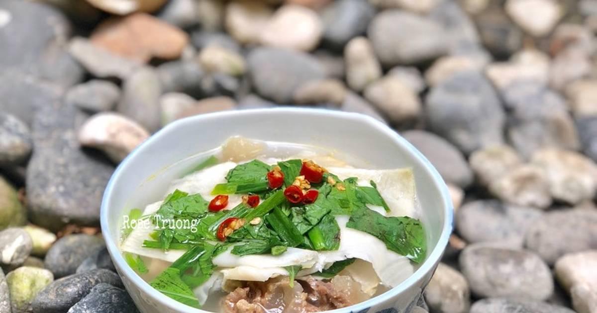 Canh Gân Bò Nấu Măng Chua