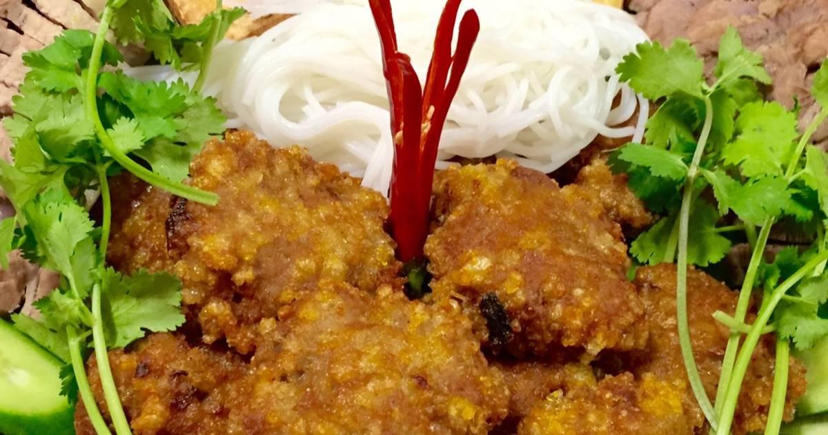 Chả Cốm giòn Hà Nội (ăn kèm bún đậu mắm tôm)