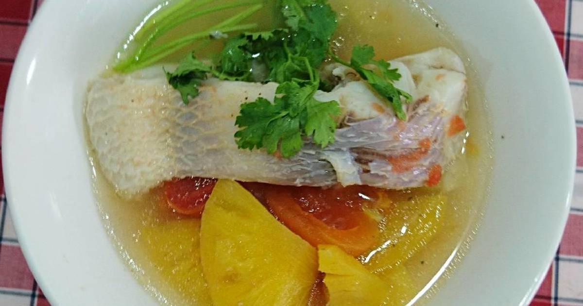 Canh cá diêu hồng nấu thơm cà
