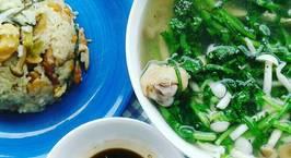 Hình ảnh món Cơm gà nấm chung nồi